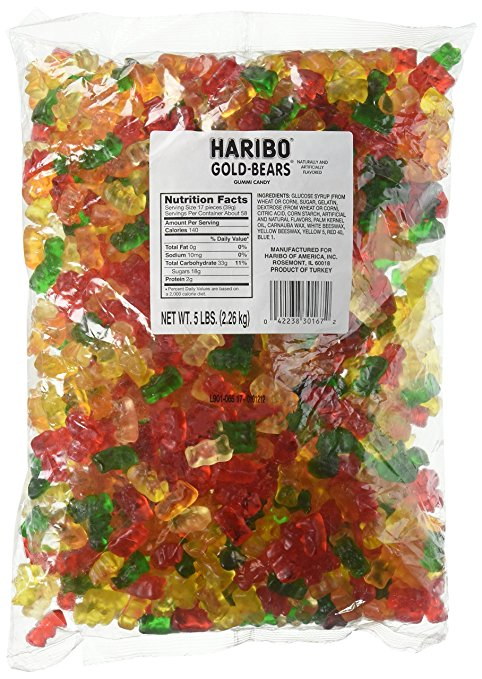 Haribo Gummy Bears - 5 Pound Bag