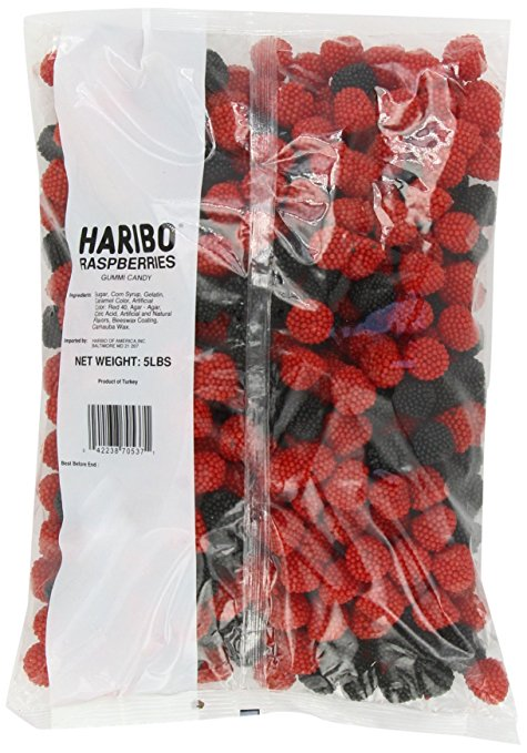 Haribo Berries Gummies - Big 5lb Bag