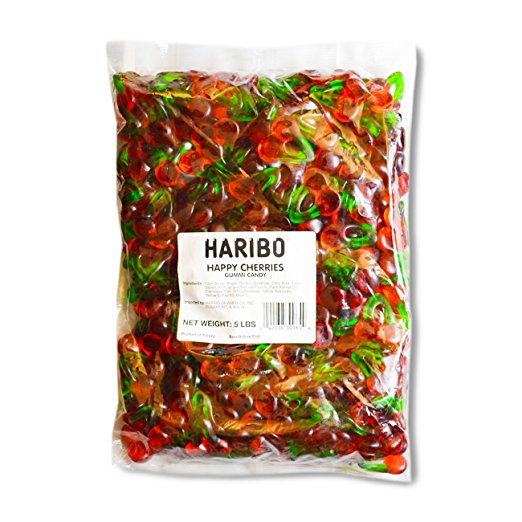 Haribo Happy Cherries Gummies - Big 5lb Bag