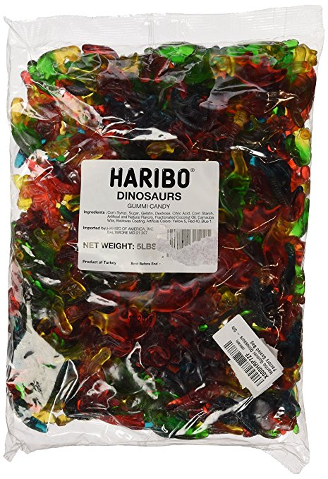 Haribo Dinosaurs Gummies - Big 5lb Bag