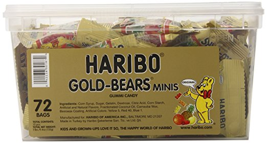 Haribo Gold-Bears Minis - 72 Count