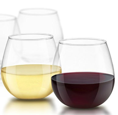 JoyJolt Stemless Wine Glasses - Set of 4