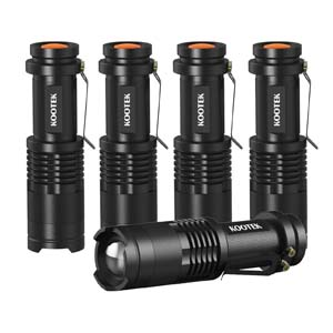 Kootek 5-Pack Tactical LED Flashlight