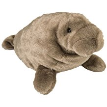 "Brown Manatee Plush - 15"" Long"