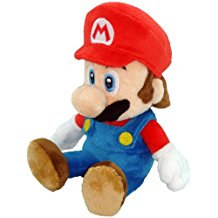 "Sitting Super Mario Plushy - 8"" Tall"