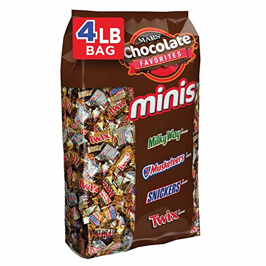 MARS Chocolate Minis - Variety Mix - 4 Pound 240-Piece Bag
