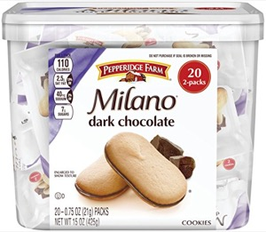 Pepperidge Farm, Milano, Cookies, Dark Chocolate 20-ct