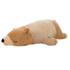 Sleeping Polar Bear Plush 14""