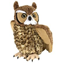 "Wise Brown Owl Plush - 12"" Tall"