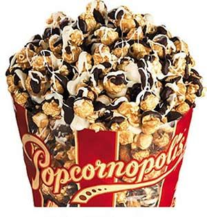 Popcornopolis Zebra Chocolate Popcorn