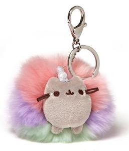 "GUND Pusheen Rainbow Keychain, 4"""