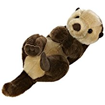 "Floating Sea Otter Plush - 10"" Long"