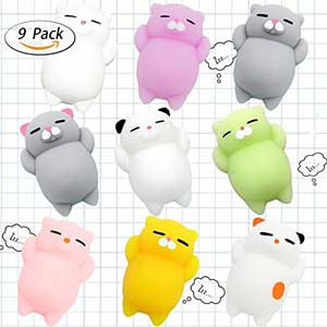 Squishy Cat Toys 9 Pieces