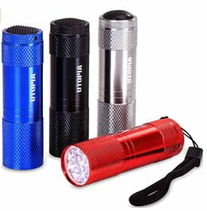Super Bright Pack of 4 Mini LED Flashlights