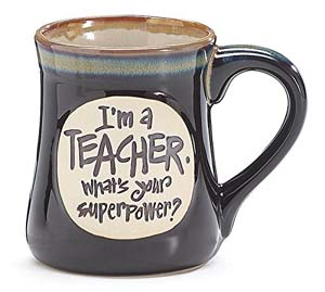 I'm a Teacher Superpower Deep Black 18 Oz Mug
