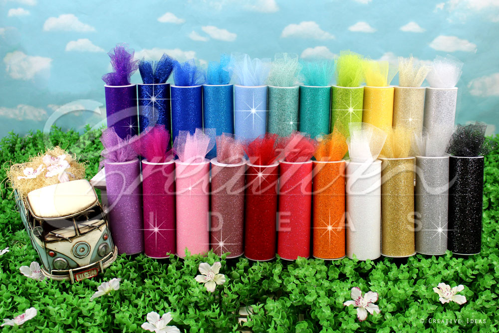 "6"" Glitter Tulle-10 Yards"