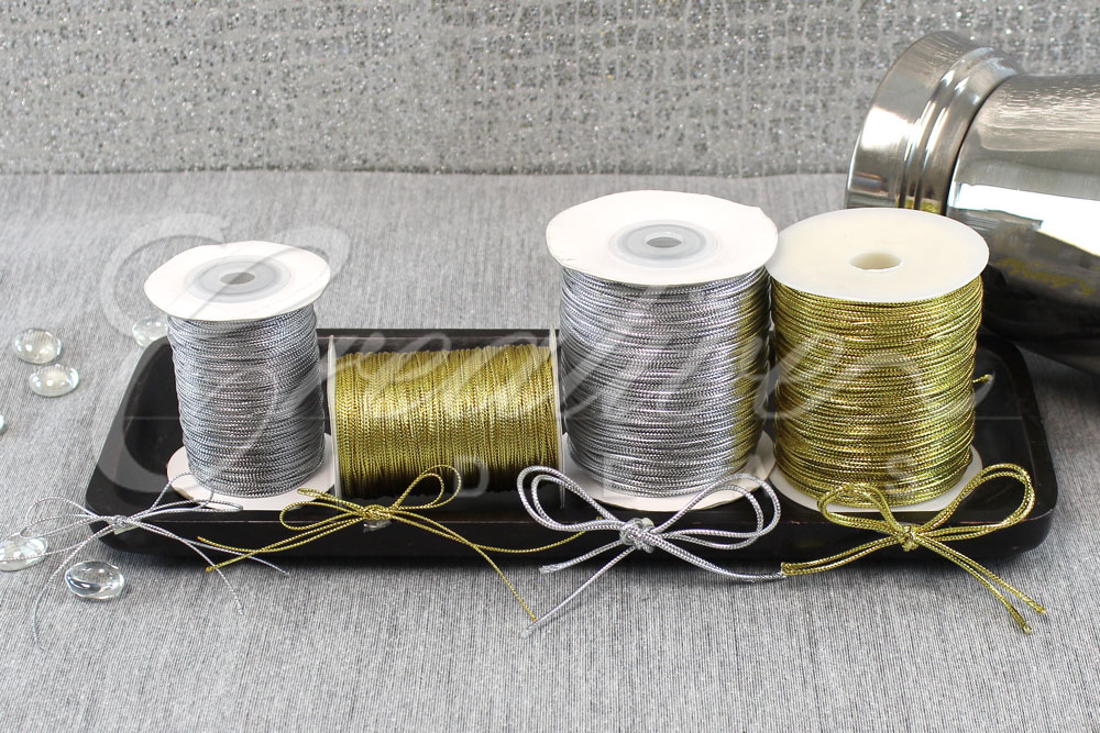 Item no. 341 & 342-1mm and 1.5mm Metallic Gift Tag-144 Yards
