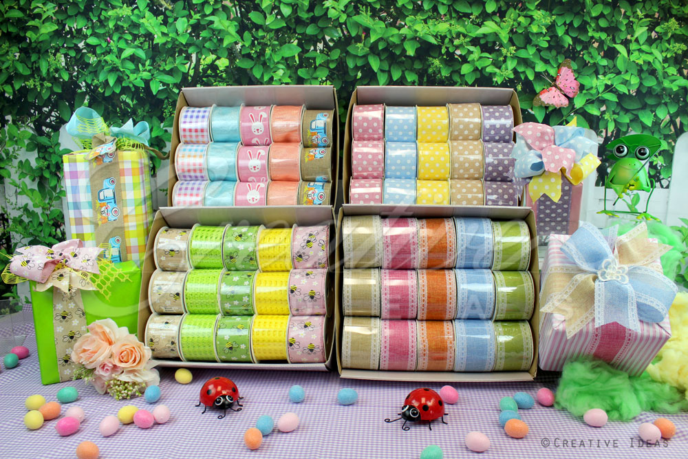 Spring Assortment Ribbons-Sold by Master Carton