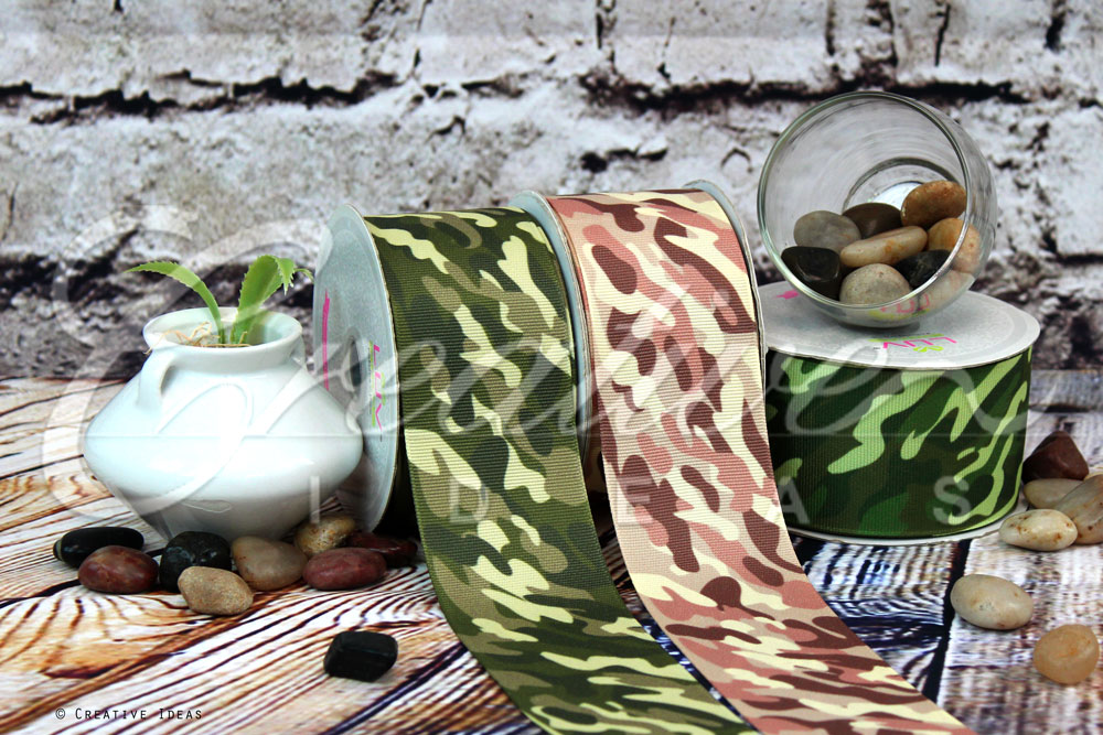 Camouflage Ribbons-10 Yards