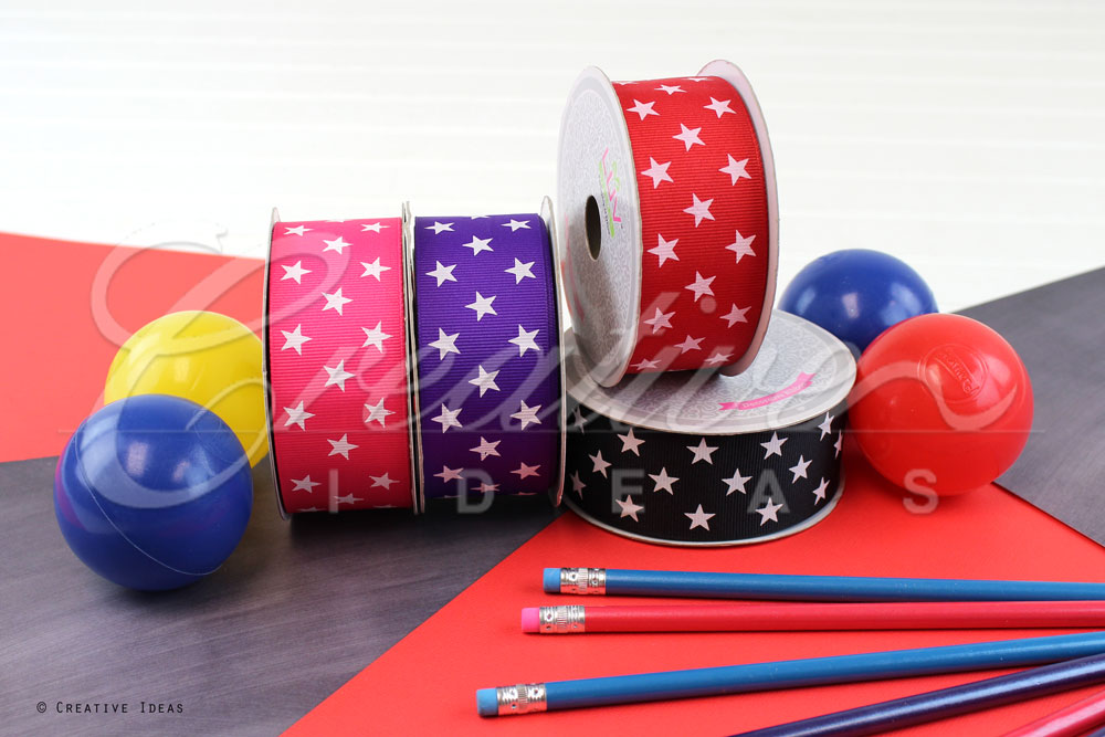 Cosmic Star Ribbons-10 Yards