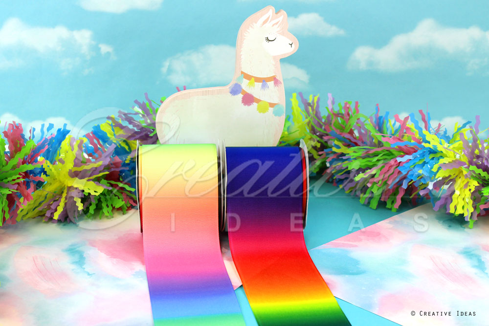 Rainbow Ombre Ribbons-10 Yards