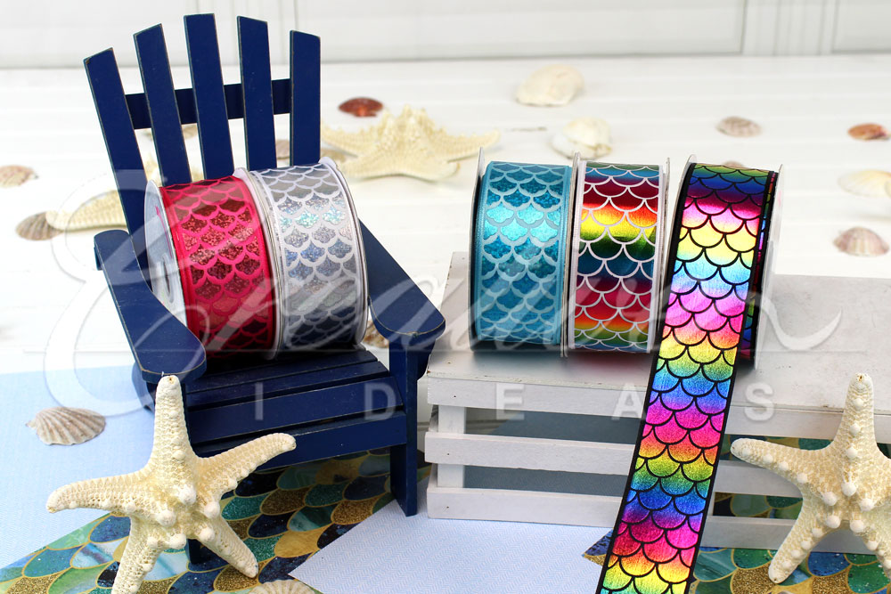 Laser Mermaid Ribbons-10 Yards
