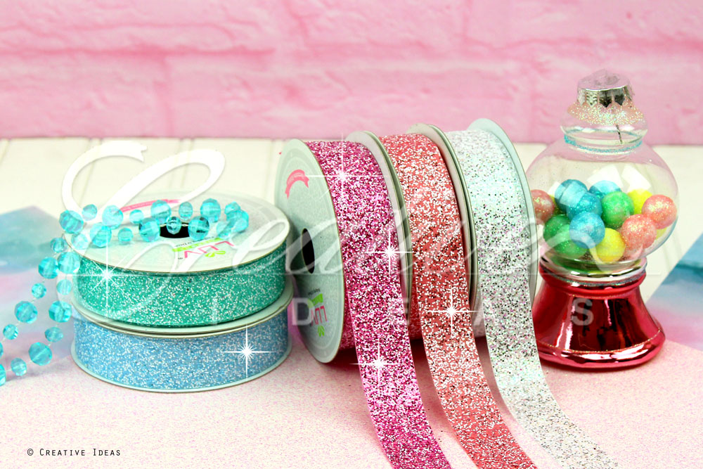 Sparkling Glitter Poly. Ribbons-10 Yards