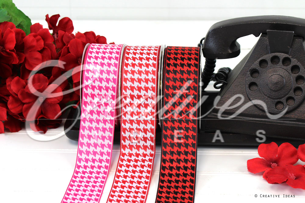 Houndstooth Ribbons-10 Yards