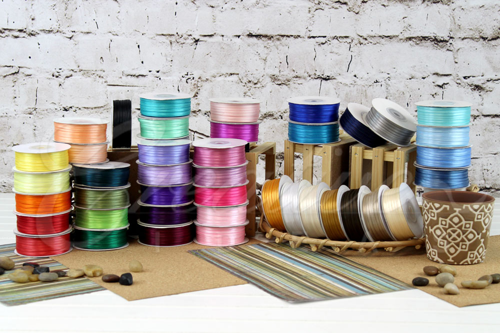 """1/8"""" Double Face Satin Ribbons-100 Yards"""