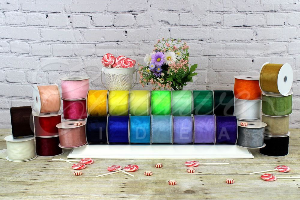 "2 1/2"" Wired Organza Sheer Ribbons-10 Yards"