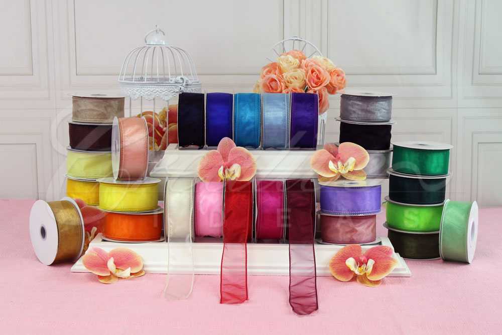 "1 1/2"" Wired Organza Sheer Ribbons-10 Yards"