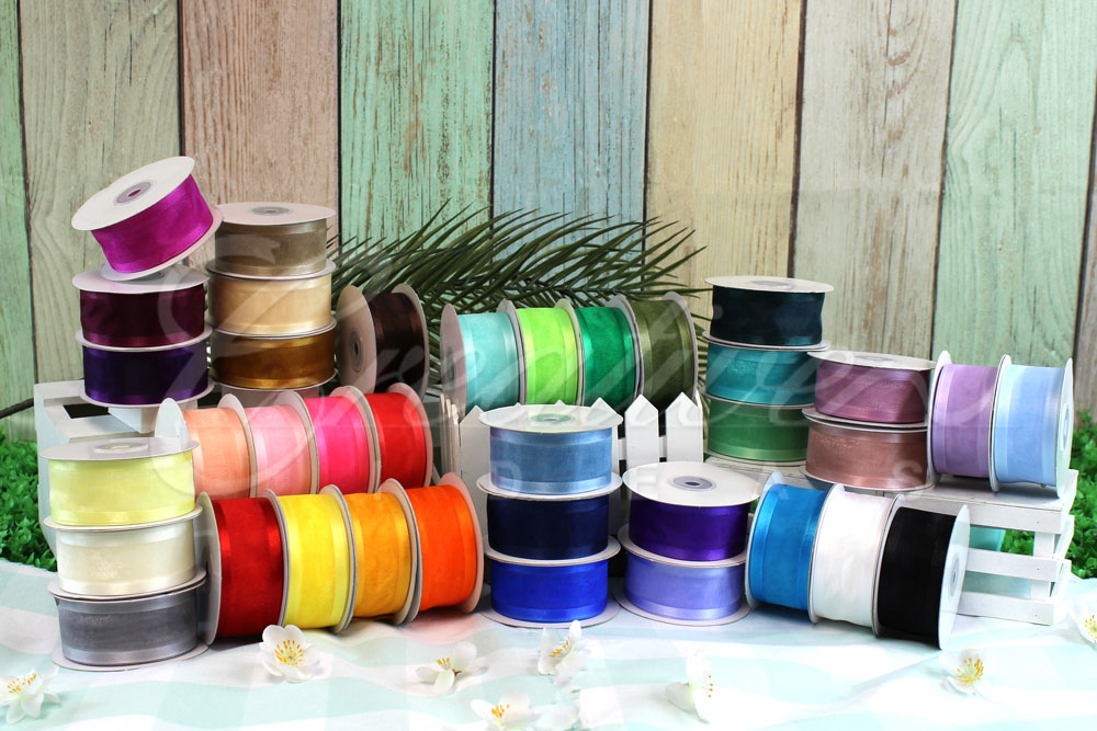 "1 1/2"" Organza with Satin Edge Ribbons-25 Yards"