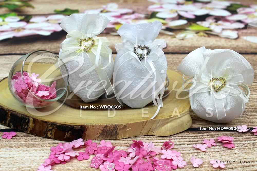 Faux Diamond Wedding Pouch-Sold by 6 pcs