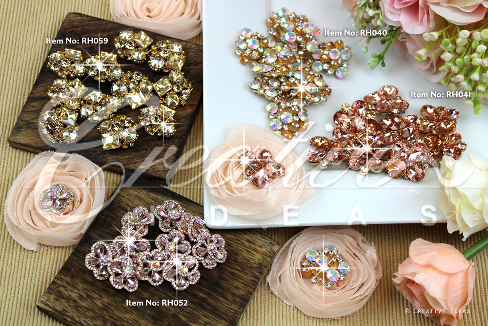 Colors Rhinestone Buttons-Sold by 10 pcs
