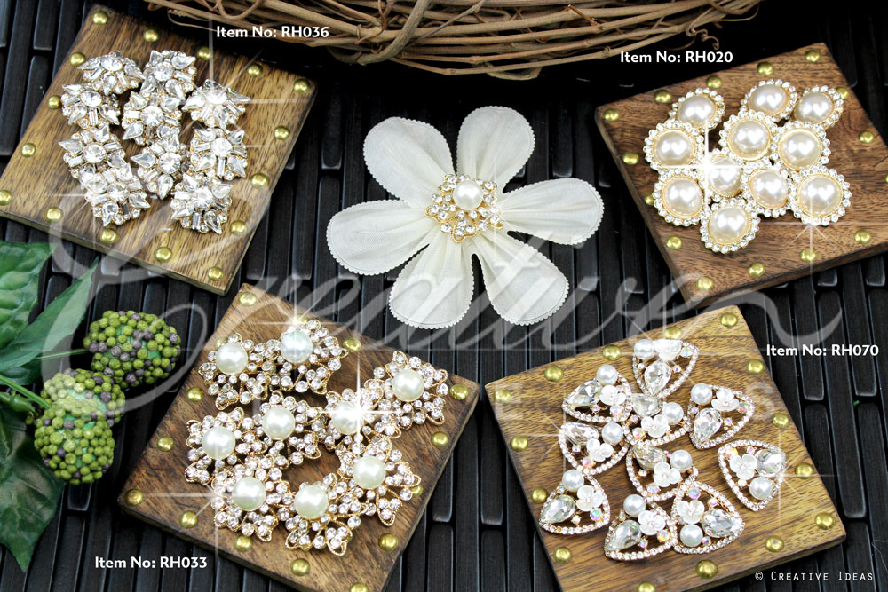Gold Rhinestone Buttons-Sold by 10 pcs