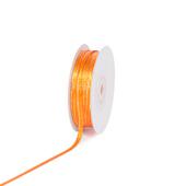 "1/8"" Satin with Gold Edge Ribbon - 50 Yards (Orange)"