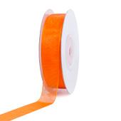 "5/8"" Plain Organza Sheer Ribbons - 25 Yards (Orange)"