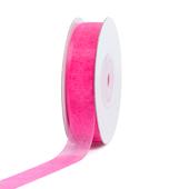 """5/8"""" Plain Organza Sheer Ribbons - 25 Yards (Hot Pink)"""