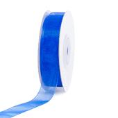 """5/8"""" Plain Organza Sheer Ribbons - 25 Yards (Royal Blue)"""