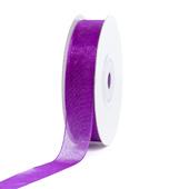 "5/8"" Plain Organza Sheer Ribbons - 25 Yards (Purple)"