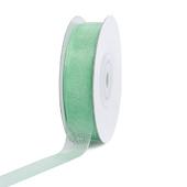 """5/8"""" Plain Organza Sheer Ribbons - 25 Yards (Mint Green)"""