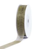 """5/8"""" Plain Organza Sheer Ribbons - 25 Yards (Moss Green)"""