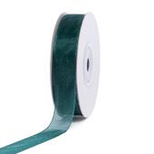 """5/8"""" Plain Organza Sheer Ribbons - 25 Yards (Hunter Green)"""