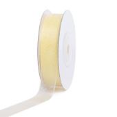 """5/8"""" Plain Organza Sheer Ribbons - 25 Yards (Baby Maize)"""