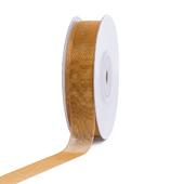 """5/8"""" Plain Organza Sheer Ribbons - 25 Yards (Antique Gold)"""