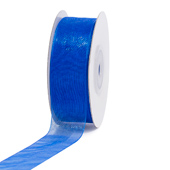 "7/8"" Plain Organza Sheer Ribbons - 25 Yards (Royal Blue)"