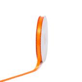 """3/8"""" Double Face Picot Ribbon - 50 Yards (Orange)"""