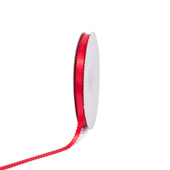 """3/8"""" Double Face Picot Ribbon - 50 Yards (Red)"""