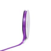 "3/8"" Double Face Picot Ribbon - 50 Yards (Purple)"