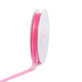 """3/8"""" Organza with Satin Edge Ribbon - 25 Yards (Hot Pink)"""